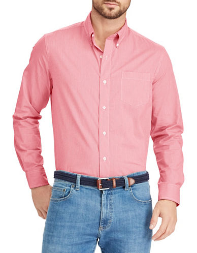 Chaps Easy-Care Stretch Sportshirt-PINK-1X Tall