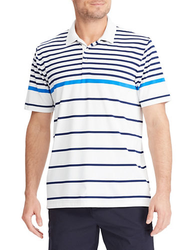 Chaps Striped Performance Polo Shirt-WHITE-Medium 89853678_WHITE_Medium