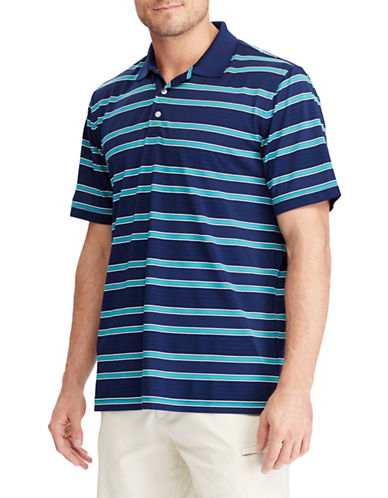 Chaps Striped Performance Polo Shirt-NAVY BLUE-X-Large 89853684_NAVY BLUE_X-Large