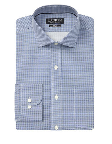 Lauren Ralph Lauren Slim Fit Non-Iron Dress Shirt-BLUE-17-34/35