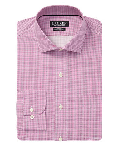 Lauren Ralph Lauren Slim Fit Non-Iron Dress Shirt-PURPLE-16.5-34/35