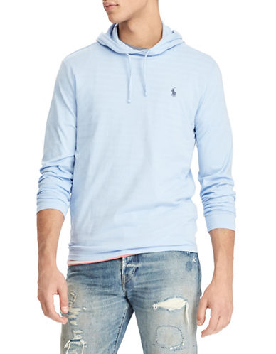 Polo Ralph Lauren Cotton Weathered Hoodie-LIGHT BLUE-Large