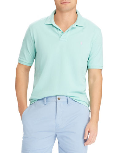 Polo Ralph Lauren Cotton Mesh Polo-GREEN-Small
