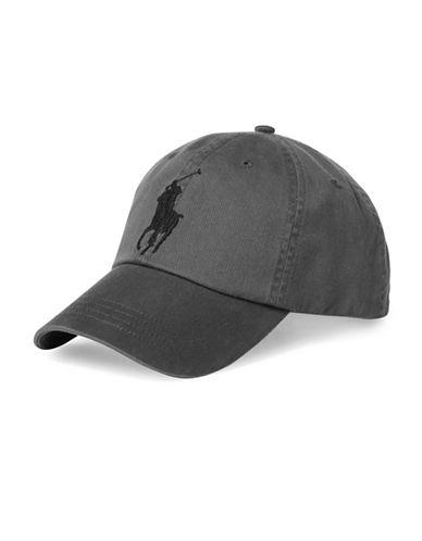 Polo Ralph Lauren Chino Cotton Baseball Cap-GREY-One Size