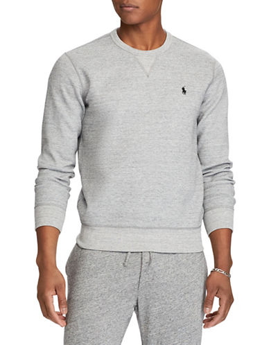 Polo Ralph Lauren Double-Knit Sweatshirt-GREY-X-Large