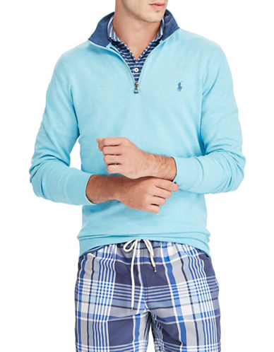 Polo Ralph Lauren Long Sleeve Pullover-LIGHT BLUE-Medium
