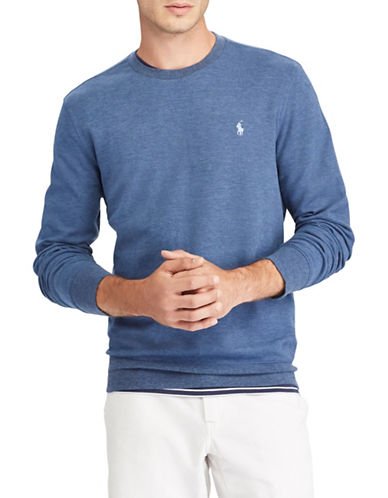 Polo Ralph Lauren Long sleeve Tee-BLUE-Small