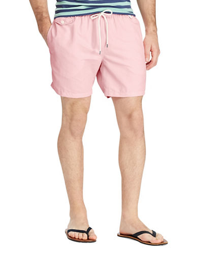 Polo Ralph Lauren Traveler Swim Trunks-PINK-Small