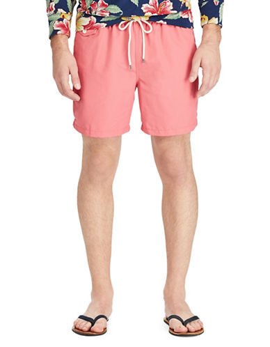 Polo Ralph Lauren Traveler Swim Trunks-RED-Large