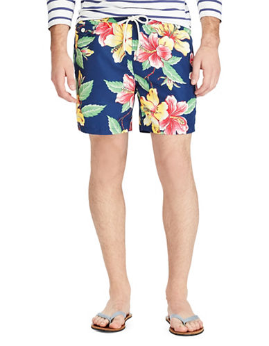 Polo Ralph Lauren Traveler Swim Trunks-BLUE-Large