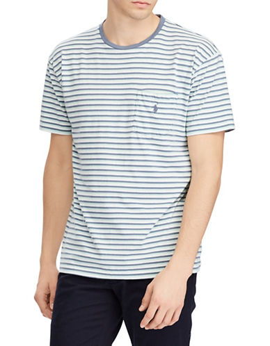 Polo Ralph Lauren Cotton Weathered Tee-GREEN-X-Large