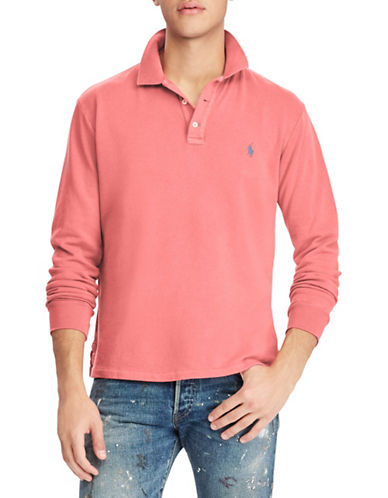 Polo Ralph Lauren Long Sleeve Cotton Polo-RED-X-Large