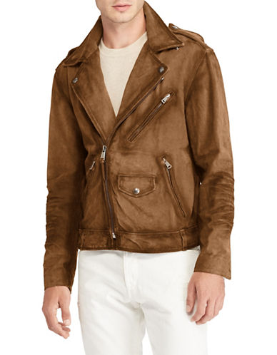 Polo Ralph Lauren Suede Biker Jacket-BROWN-X-Large 89738105_BROWN_X-Large