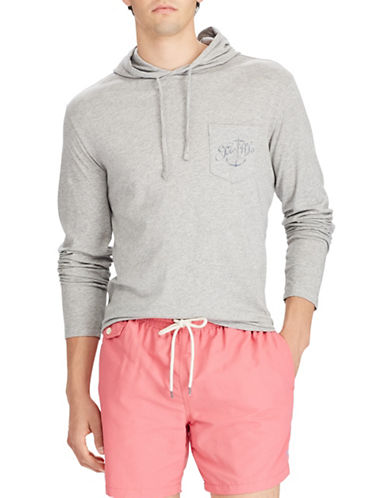 Polo Ralph Lauren Graphic Cotton Hoodie-GREY-X-Large