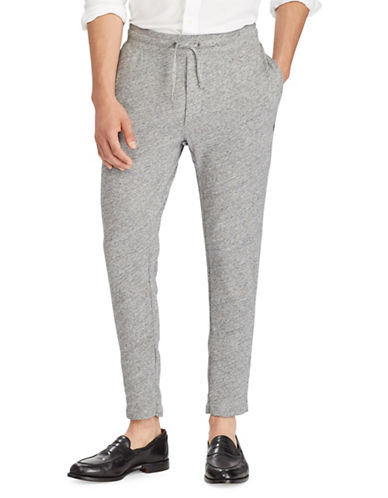 Polo Ralph Lauren Spa Cotton Terry Pants-GREY-X-Large