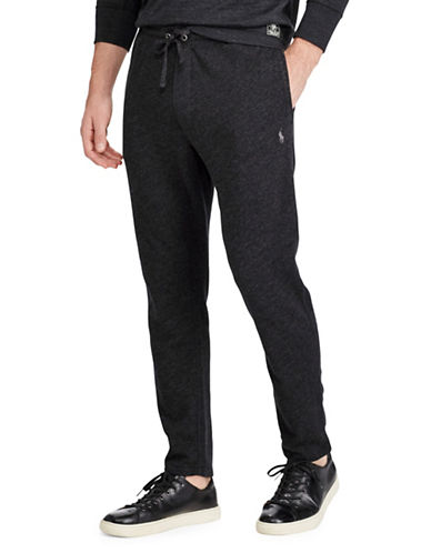 Polo Ralph Lauren Spa Cotton Terry Pants-BLACK-Medium