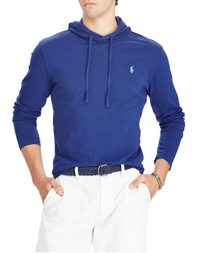 Polo Ralph Lauren Cotton Weathered Hoodie-BLUE-Small