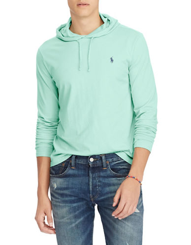 Polo Ralph Lauren Cotton Weathered Hoodie-GREEN-X-Large