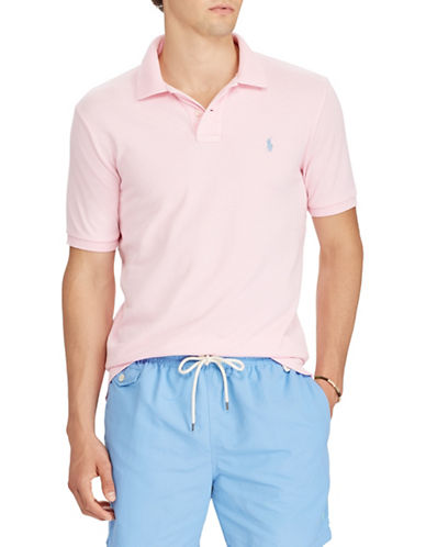 Polo Ralph Lauren Cotton Mesh Polo-PINK-X-Large