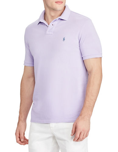 Polo Ralph Lauren Cotton Mesh Polo-PURPLE-X-Large