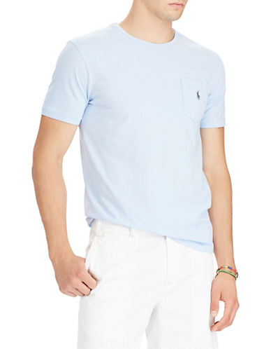 Polo Ralph Lauren Custom Slim-Fit Cotton Tee-BLUE-Small