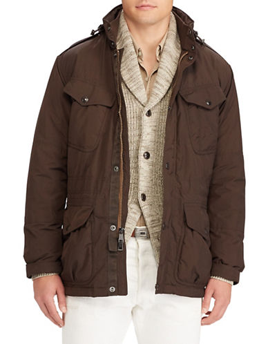 Polo Ralph Lauren Water-Repellent Field Jacket-BROWN-X-Large