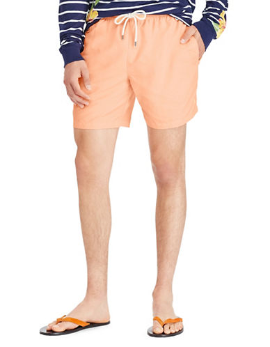 Polo Ralph Lauren Comfy Swim Trunks-ORANGE-X-Large