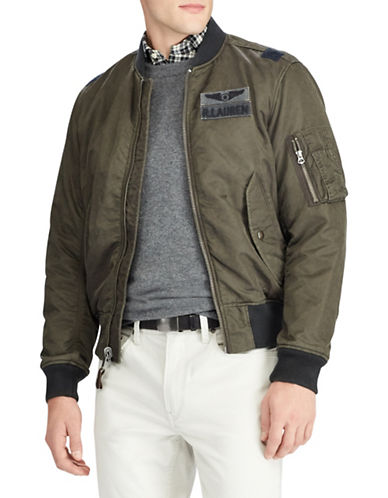 Polo Ralph Lauren Twill Bomber Jacket-GREY-Large