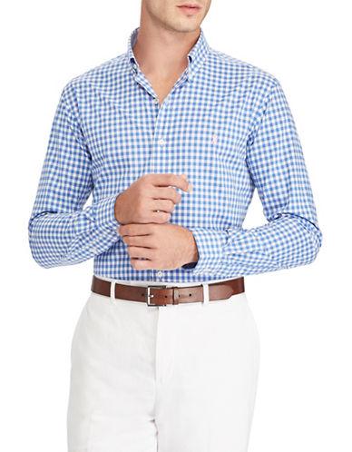 Polo Ralph Lauren Classic-Fit Cotton Sportshirt-BLUE-Small
