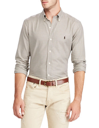 Polo Ralph Lauren Classic-Fit Cotton Sport Shirt-NATURAL-Large