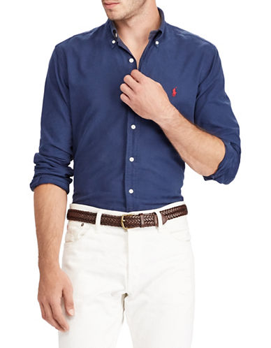Polo Ralph Lauren Slim-Fit Cotton Sportshirt-BLUE-X-Large