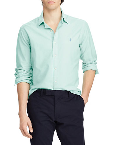 Polo Ralph Lauren Slim-Fit Cotton Sportshirt-GREEN-Large