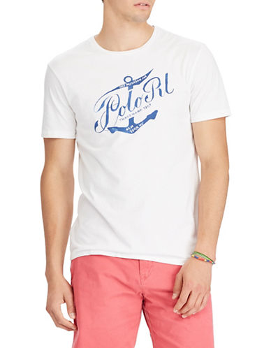 Polo Ralph Lauren Short Sleeve Cotton Tee-WHITE-Medium