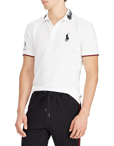 Polo Ralph Lauren Mesh Cotton Polo-WHITE-X-Large