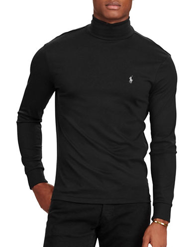 Polo Ralph Lauren Soft-Touch Cotton Turtleneck-BLACK-Medium 89583494_BLACK_Medium