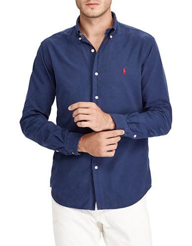 Polo Ralph Lauren Classic Fit Cotton Sport Shirt-BLUE-5X Big