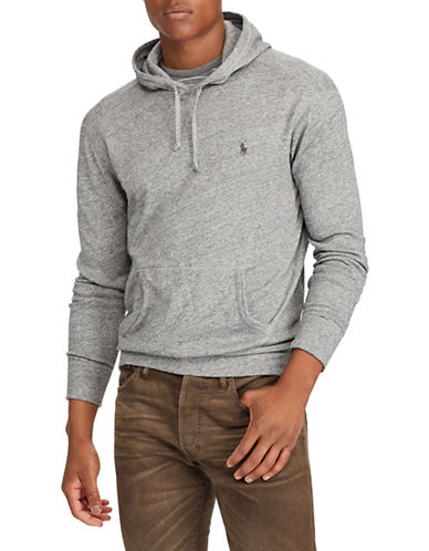 Polo Ralph Lauren Spa Terry Cotton Hoodie-GREY-1X Tall