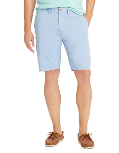 Polo Ralph Lauren Stretch Cotton Logo Shorts-BLUE-42 Tall