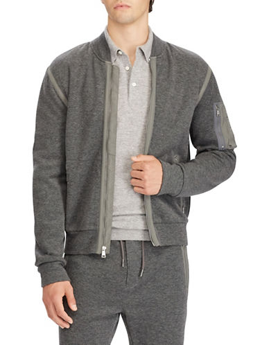 Polo Ralph Lauren Zip-Up Bomber Jacket-GREY-2X Tall