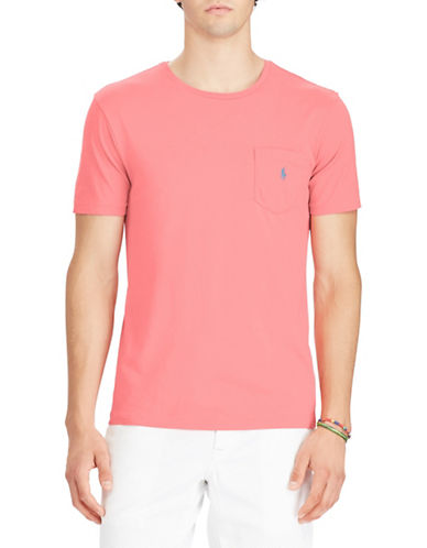 Polo Ralph Lauren Short Sleeve Cotton Tee-RED-X-Large