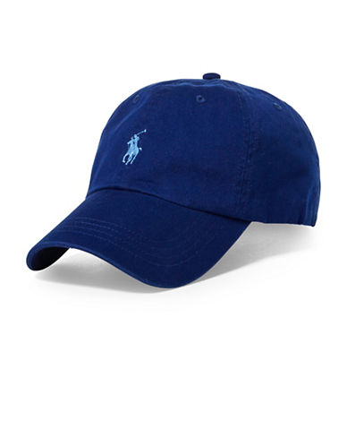 Polo Ralph Lauren Cotton Chino Sports Cap-BLUE-One Size
