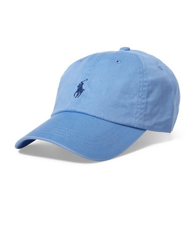 Polo Ralph Lauren Cotton Chino Sports Cap-LIGHT BLUE-One Size