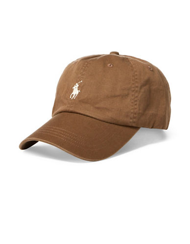 Polo Ralph Lauren Cotton Chino Sports Cap-BROWN-One Size