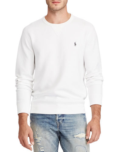 Polo Ralph Lauren Double-Knit Sweatshirt-WHITE-X-Large