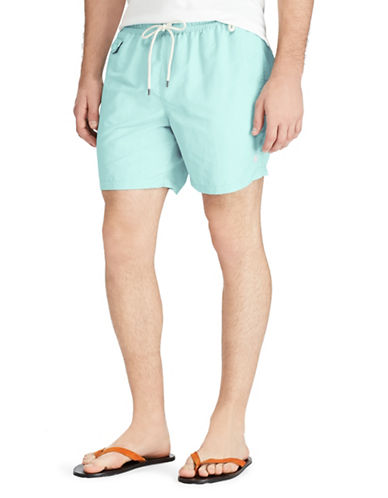 Polo Ralph Lauren Traveler Swim Trunks-GREEN-Medium