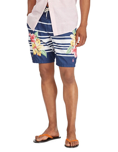 Polo Ralph Lauren Floral Swim Trunks-BLUE-Small