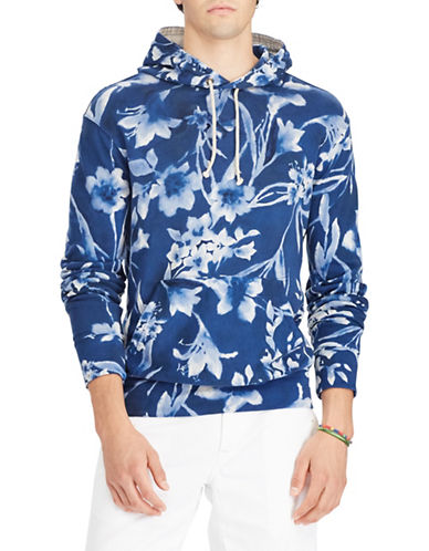 Polo Ralph Lauren Floral Cotton Hoodie-BLUE-X-Large 89707440_BLUE_X-Large