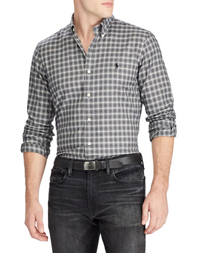 Polo Ralph Lauren Classic-Fit Cotton Sport Shirt-GREY-Large 89738127_GREY_Large