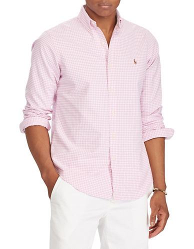 Polo Ralph Lauren Classic-Fit Cotton Sportshirt-PINK-Large