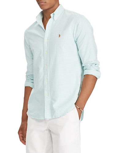 Polo Ralph Lauren Classic-Fit Cotton Sportshirt-GREEN-Medium